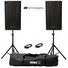 Speaker B-Hype 15 (Sepasang) Stands & Cables