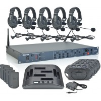 Clear-Com DX410 4 Belt Pack Wireless Intercom System