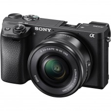 Sony a6300 Mirrorless Camera with E PZ 16–50 mm F3.5