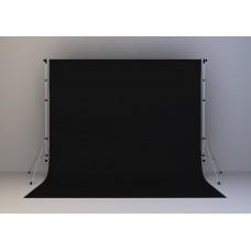 Kain Hitam 20x20 feet (Screen/ Background) + Stand