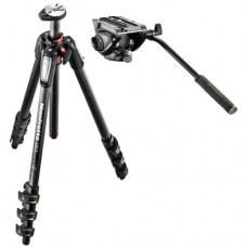 Tripod Manfrotto MT055CXPRO4 4-Sections Carbon Fiber + Manfrotto MVH500AH
