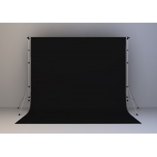 Kain Hitam 20x20 feet (Black Screen) + Stand