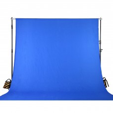 Background Kain Biru/ Blue Screen Chromakey 20x20 feet + Stand
